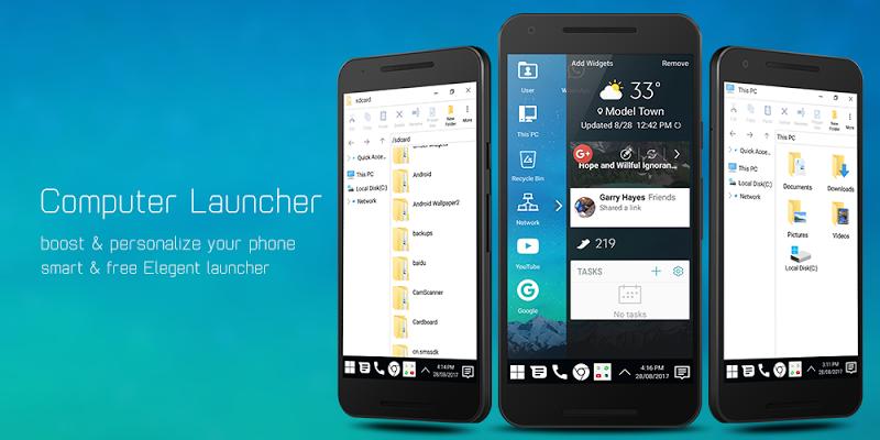Computer Launcher - Win 10 Style Screenshot 2