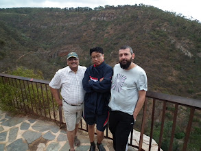 Photo: With Hari (David's brother-in-law) and Theo atop the Adelaide hills
