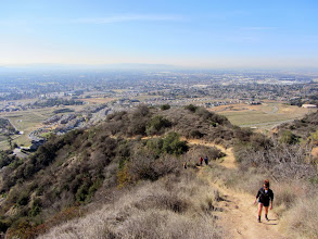 Photo: View southwest on Garcia Trail toward a short-cut climbers' path