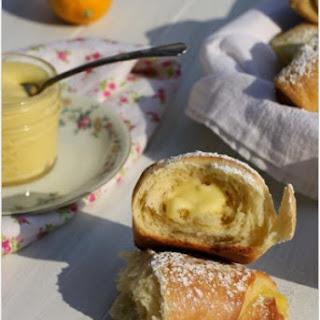 Meyer Lemon Curd Brioche Crescents
