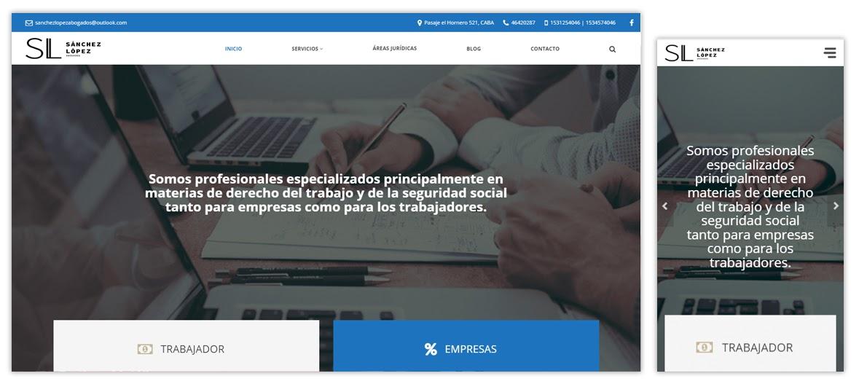 Sitio web Sánchez López Abogados