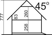 Domek Mały 004 BK V3 - Przekrój
