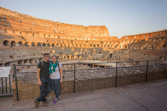 Photo: Tom and Alison in the Colosseum, Rome
