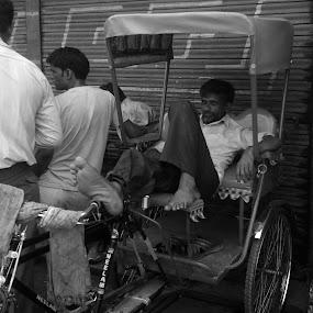 siesta by Ravi Shankar - City,  Street & Park  Street Scenes