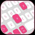White Pink Keyboard icon