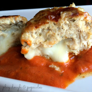 The Greatest Mozzarella Stuffed Chicken Meatballs