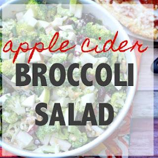 Broccoli Salad Apple Cider Vinegar Recipes.