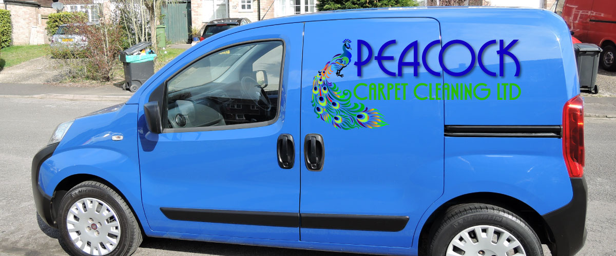The Peacock Carpet Cleaning Van