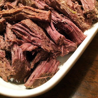 Slow Cooked Elk Roast.