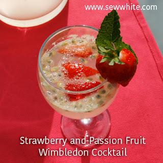 Strawberry and Passion Fruit Wimbledon Cocktail.