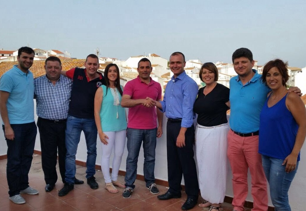 El equipo de de Concejales de PSOE e IU