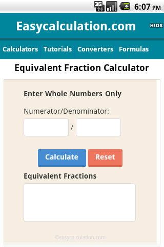 Equivalent Fraction Calculator by HIOX Softwares Pvt Ltd (Google
