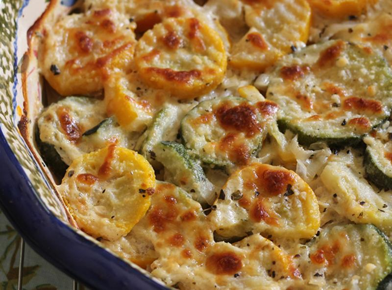 Zucchini And Squash Au Gratin Recipe Just A Pinch Recipes