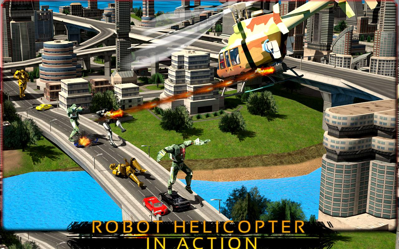 Helicopter Robo Transformation- screenshot
