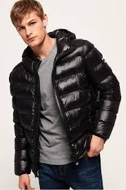 NEW Superdry Superdry MENS CRATER PADDED PUFFER JACKET BLACK | eBay