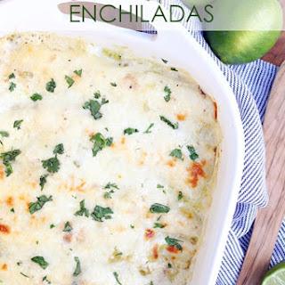 Chicken and Spinach Enchiladas.