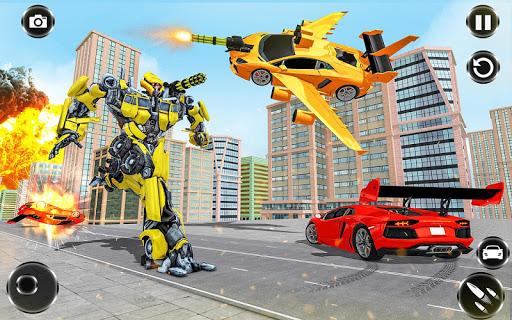 Flying Car- Super Robot Transformation Simulator apkpoly screenshots 2