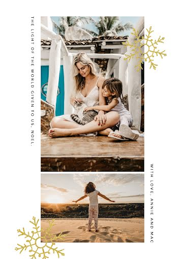 The Light of the World - Christmas Card Template