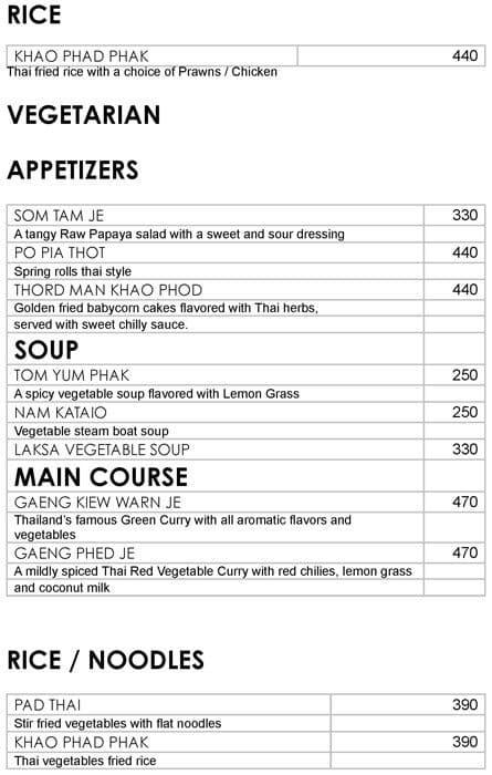 Oriental Bowl, Ramada Palmgrove menu 7