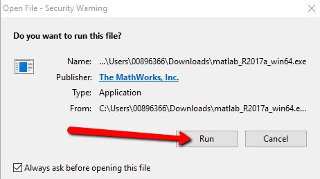 Run Downloaded File