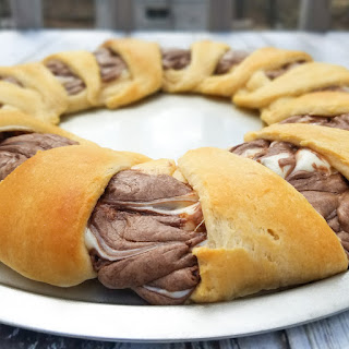 Chocolate Hazelnut Cheesecake Crescent Ring.