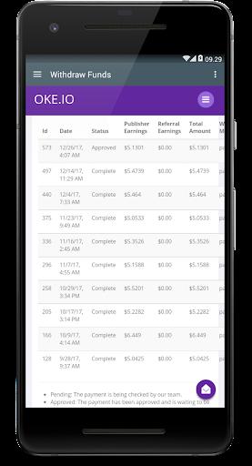 Oke.io - Shorten Urls and Earn Money! 1.0 screenshots 6