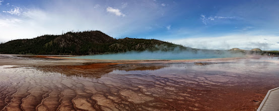 Photo: Panoramic view of the Grand Prismatic Spring