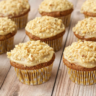 Gluten-Free Carrot Cake Cupcakes with Cashew Cream Frosting Recipe