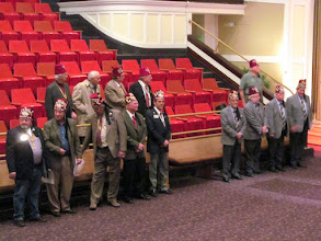 Photo: Some of the Past Potentates on left, Divan members on right