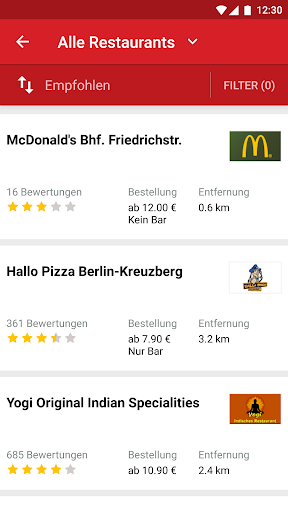 LIEFERHELD | Food Delivery  screenshots 1