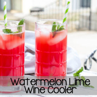 Watermelon Lime Wine Cooler