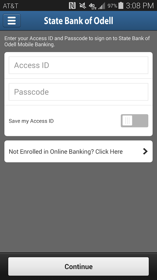 State Bank of Odell Mobile- screenshot