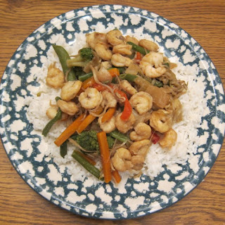 Shrimp And Vegetable Stir Fry Recipe With Bean Sprouts
