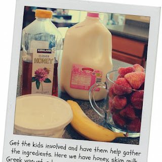 Strawberry-Banana Fruit Smoothies Recipe