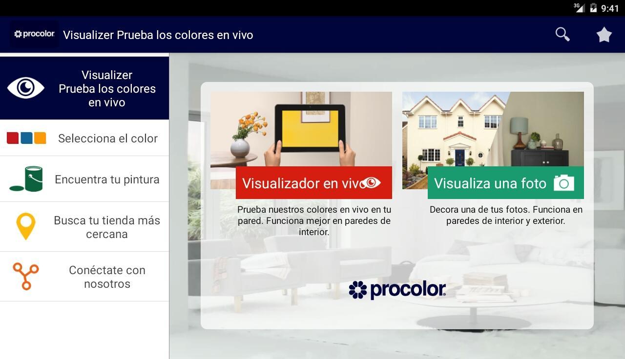 Procolor Visualizer Aplicaciones De Android En Google Play ~ Aplicaciã³n Para Pintar Paredes