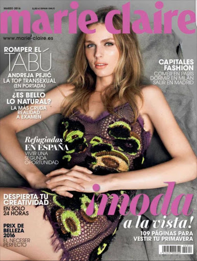 Marie Claire cover: ANDREJA PEJIC