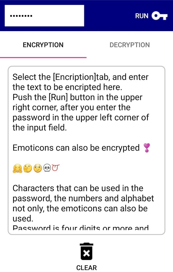 Messecure(Text encryption App)- screenshot