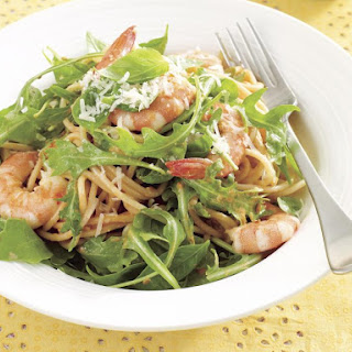 Shrimp and Basil Spaghetti