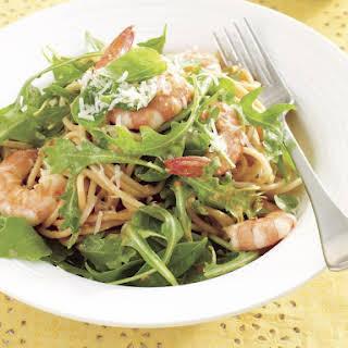 Shrimp and Basil Spaghetti.