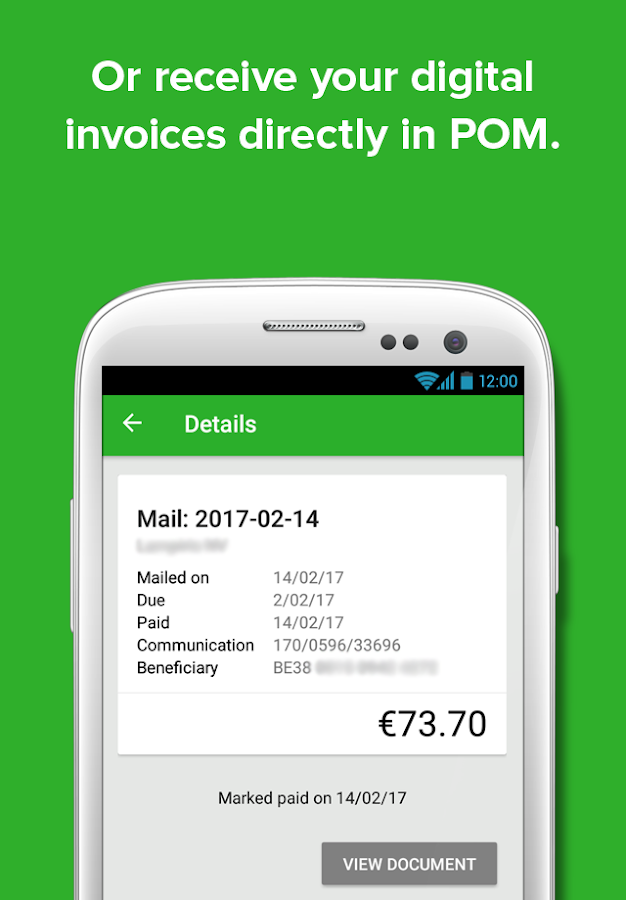 POM - invoice payments- screenshot