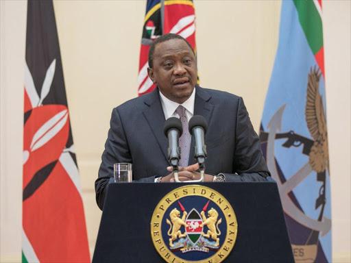 President Uhuru Kenyatta at State House, April 24, 2018.
