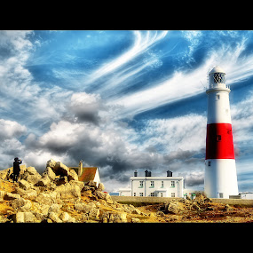 Watch out for the rocks by Nigel Finn - Buildings & Architecture Public & Historical ( building, portland, bill, lighthouse, dorset )