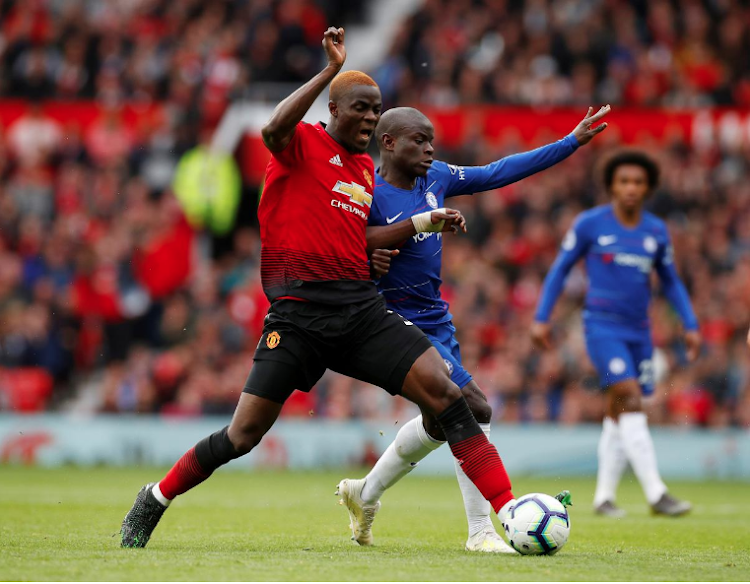 Manchester United's Eric Bailly vies for the ball with Chelsea's N'Golo Kante during a past match