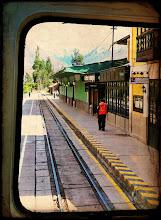 Photo: Ollantaytambo Train Station to pick-up more passengers.