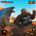 Angry Gorilla City Rampage Animal Attack Games icon