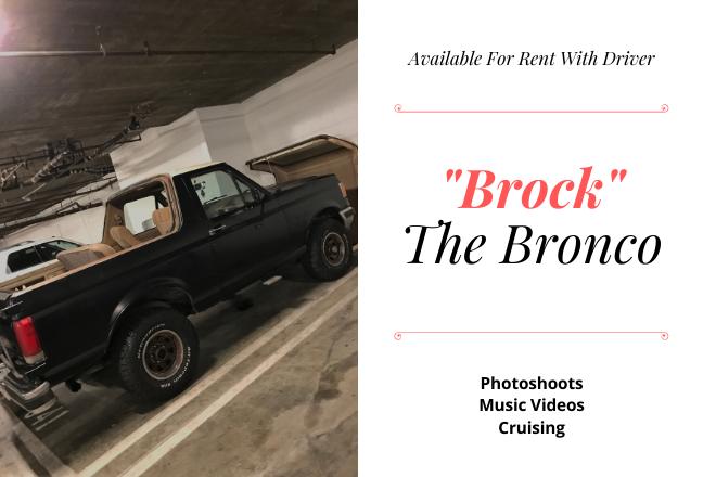 1988 Ford Bronco Hire CA
