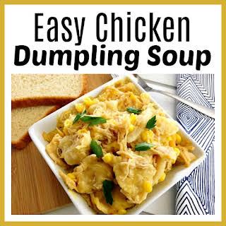 Easy Chicken Dumpling Soup.