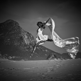 Ballet on the Beach by Riaan Swanepoel - People Musicians & Entertainers