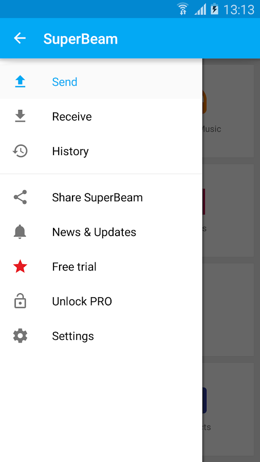 SuperBeam | WiFi Direct Share- screenshot
