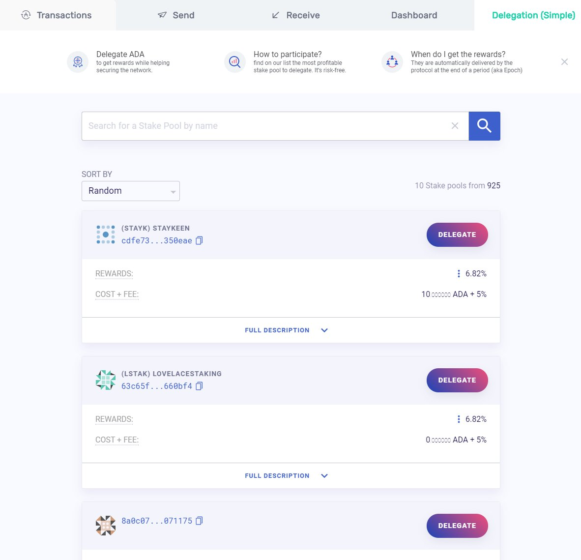 Yorol wallet interface